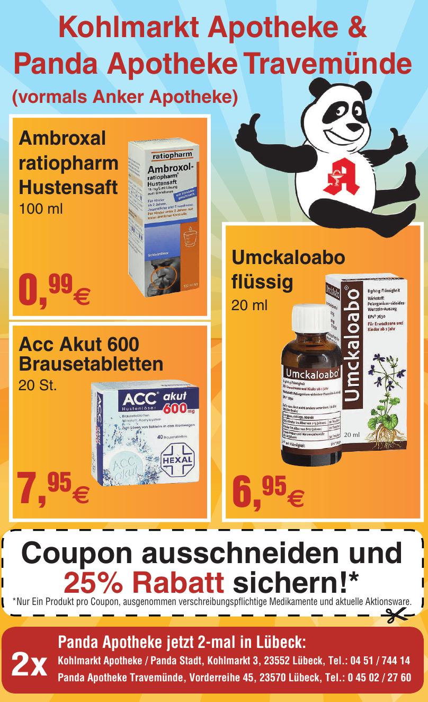Kohlmarkt Apotheke & Panda Apotheke Travemünde