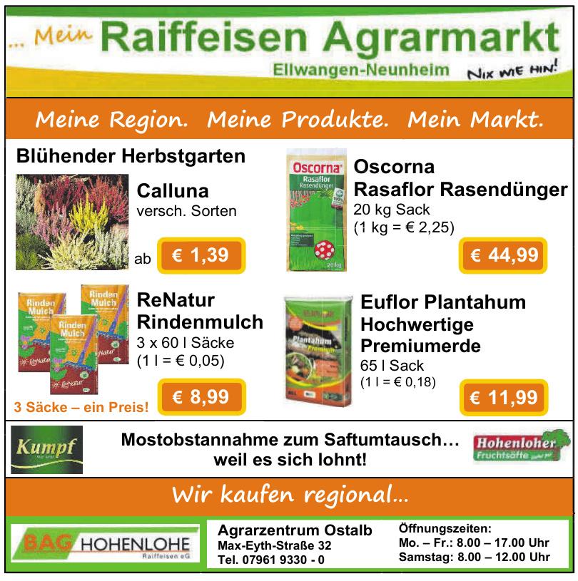 Raiffeisen Agrarmerkt - Agrarzentrum Ostalb