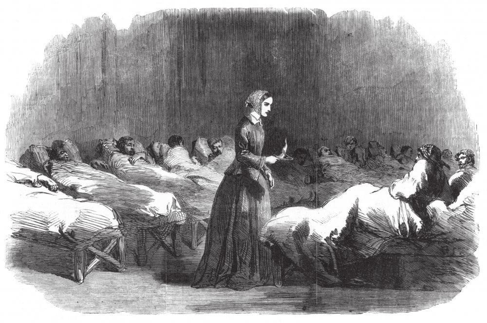 """""""Die Lady mit der Lampe"""" wurde Florence Nightingale auch genannt, weil sie in den späten Abendstunden immer noch einmal die Kranken in Lazaretten aufsuchte, um nach dem Rechten zu sehen. Foto: wikimedia"""