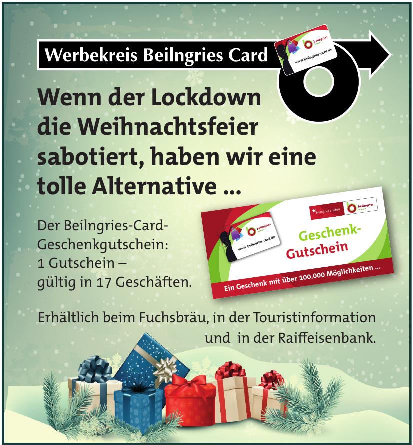 Beilngries-Card- Geschenkgutschein