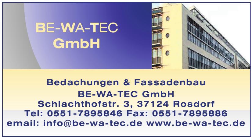 Bedachungen & Fassadenbau BE-WA-TEC GmbH