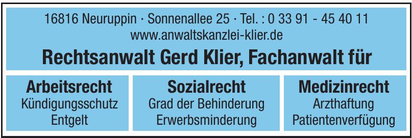Rechtsanwalt Gerd Klier