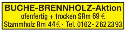 Buche-Brennholz-Aktion