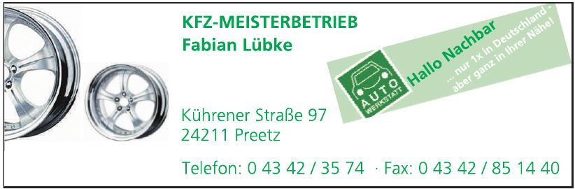 KFZ-Meisterbetrieb Fabian Lübke