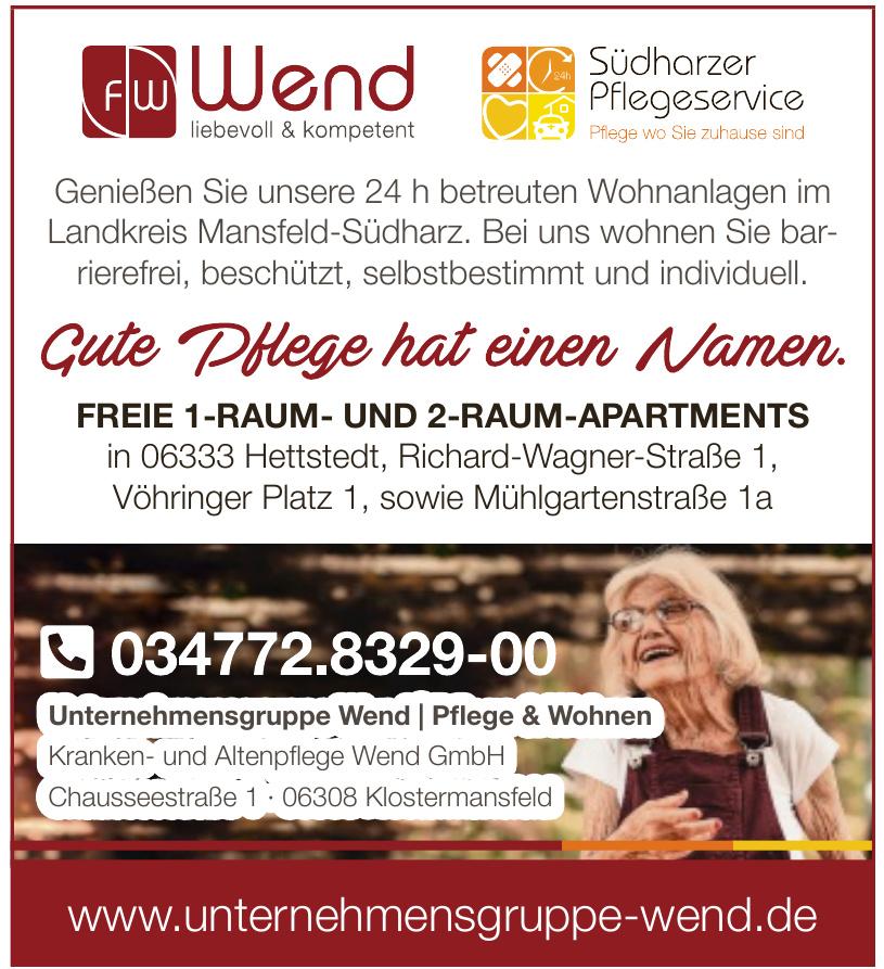 Unternehmensgruppe Wend / Pflflege & Wohnen - Kranken- und Altenpflflege Wend GmbH