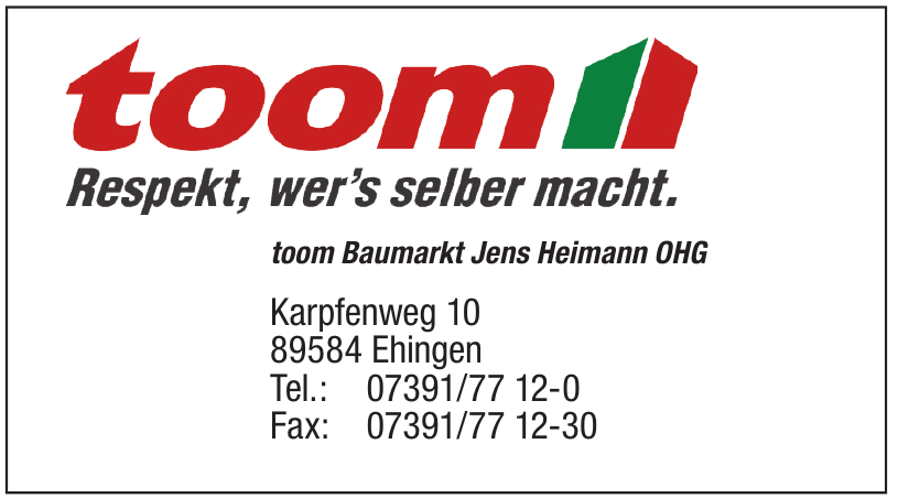toom Baumarkt Jens Heinmann OHG
