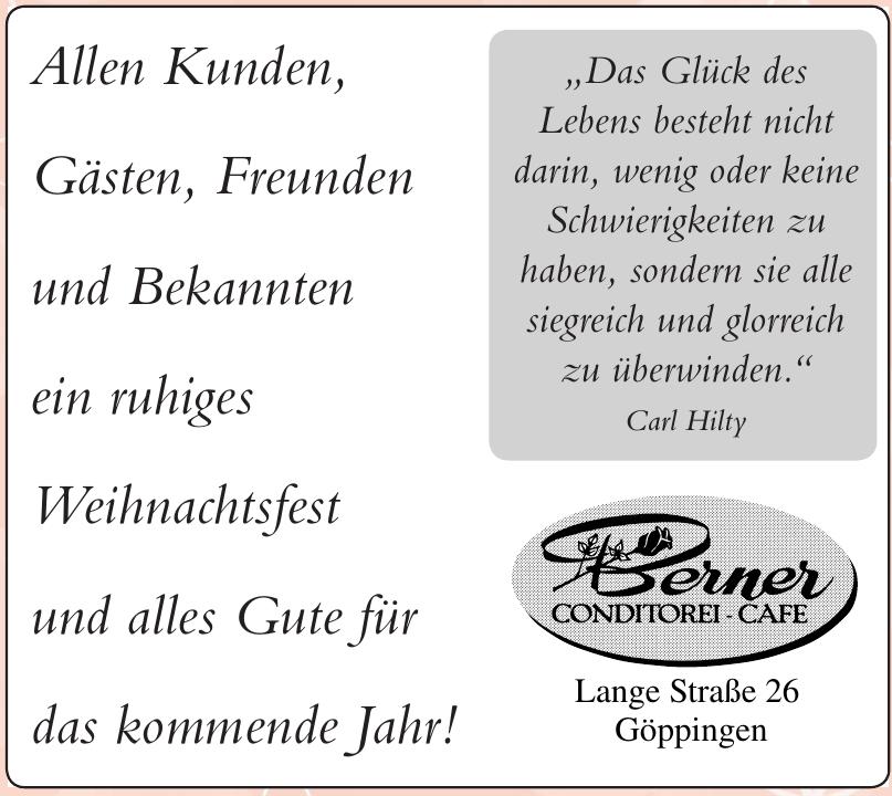 Conditore - Cafe Berner