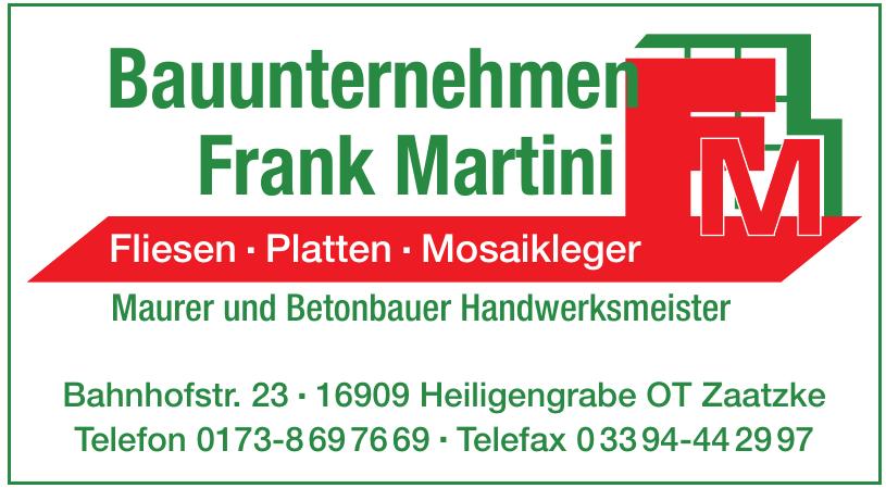 Bauunternehmen Frank Martini
