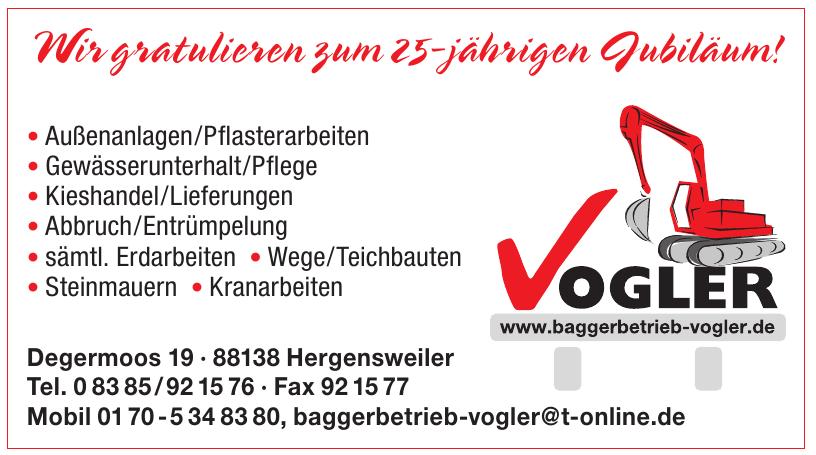 Baggerbetrieb Vogler GmbH