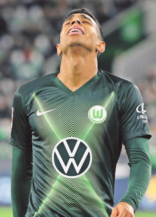 3 Mal Pfostenpech: Wolfsburgs Joao Victor.