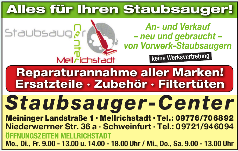 Staubsauger-Center