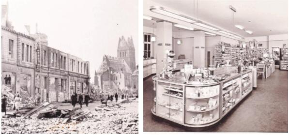 Zwar wurde der heutige Stammsitz in der Karmarschstraße 1943 von Bomben zerstört, aber die Familie baute das Geschäft wieder auf und eröffnete schon sechs Jahre später neu – zunächst nur auf einer Etage. Foto: Wilhelm Liebe GmbH