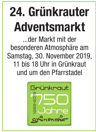 24. Grünkrauter Adventsmarkt