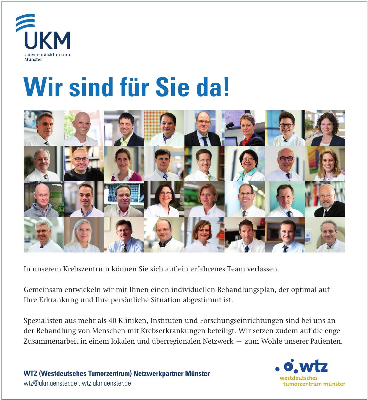 WTZ (Westdeutsches Tumorzentrum) Netzwerkpartner Münster