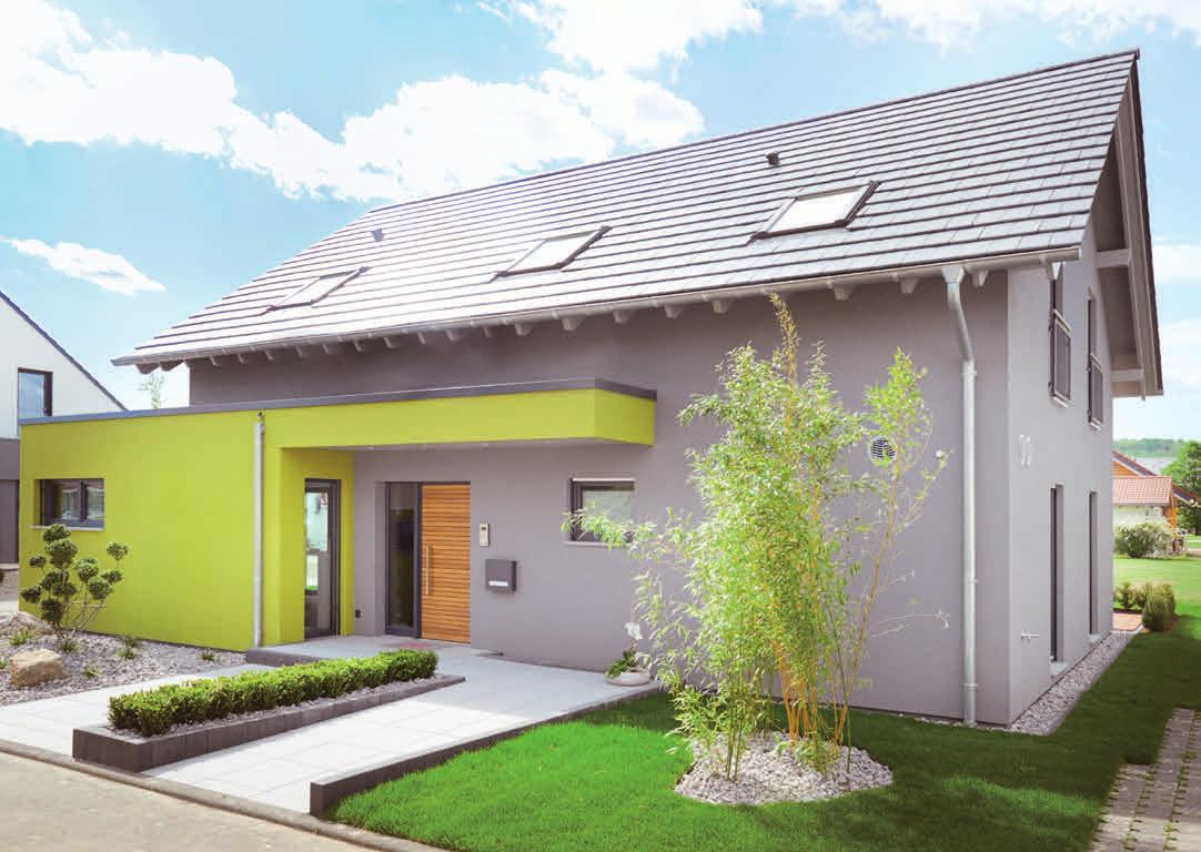 Der Anbau des Haustyps Koblenz trennt Privatleben vom Arbeitsbereich. Fotos: privat