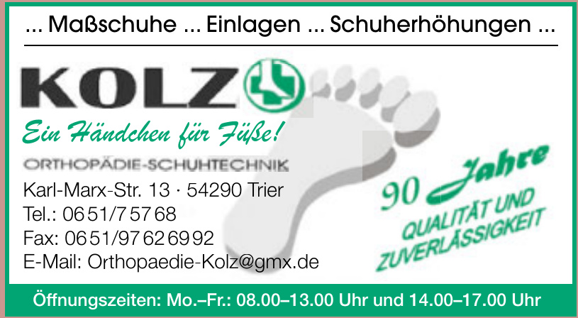 Kolz Orthopädie-Schuhtechnik