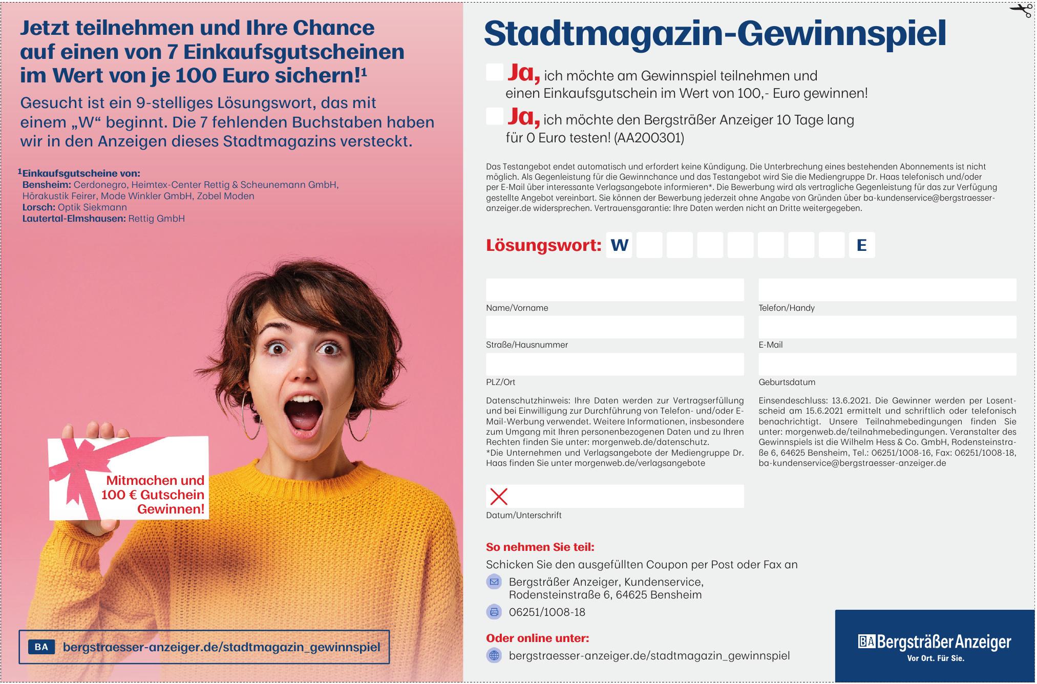 Bergsträßer Anzeiger, Kundenservice