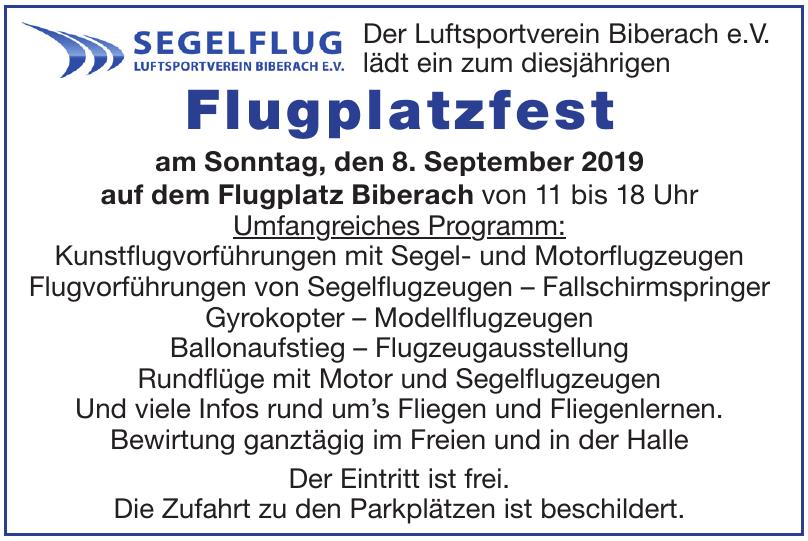 Der Luftsportverein Biberach e.V.