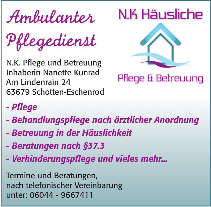 N.K. Pflege und Betreuung Ambulanter Pflegedienst