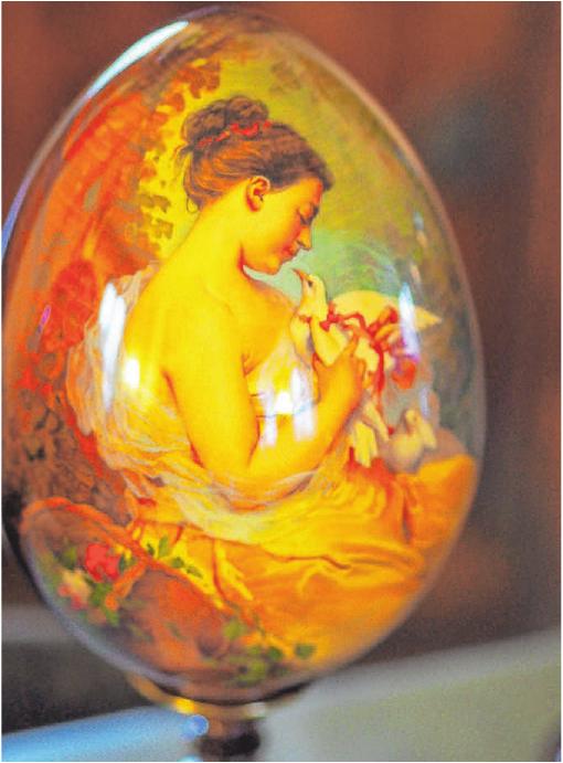 Filigrane Kunst auf dem Ei. FOTO: PR