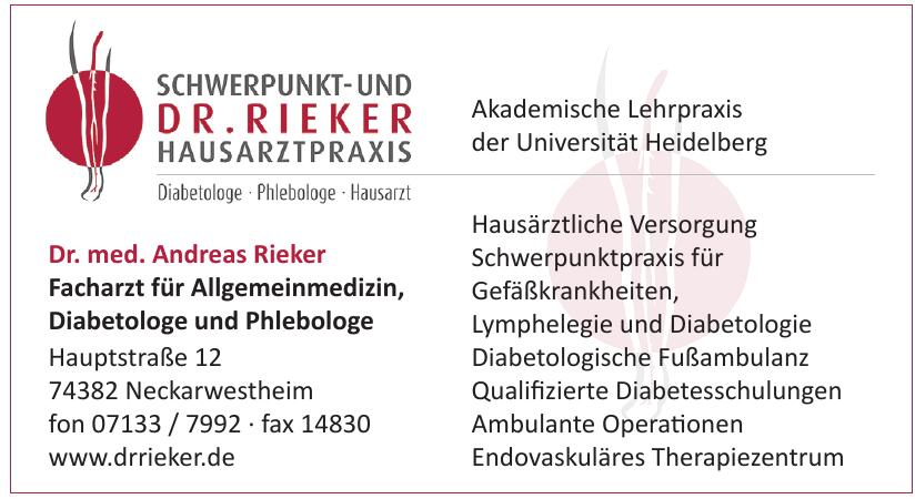 Dr. med. Andreas Rieker