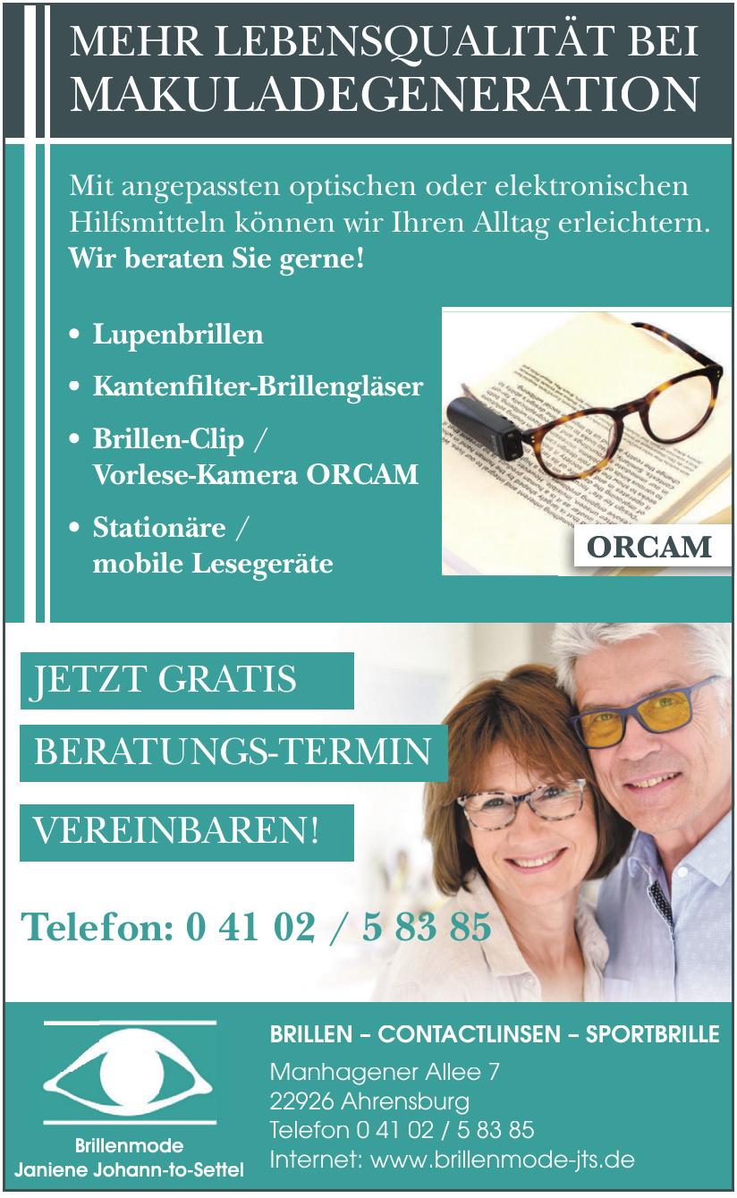 Brillenmode Janiene Johann-to-Settel