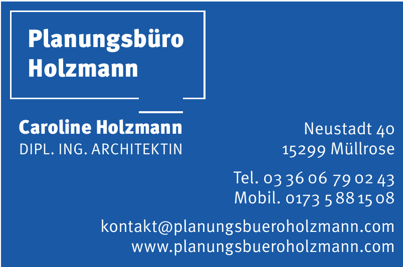 Planungsbüro Holzmann