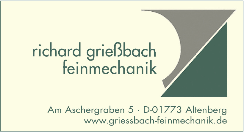 Richard Grießbach Feinmechanik