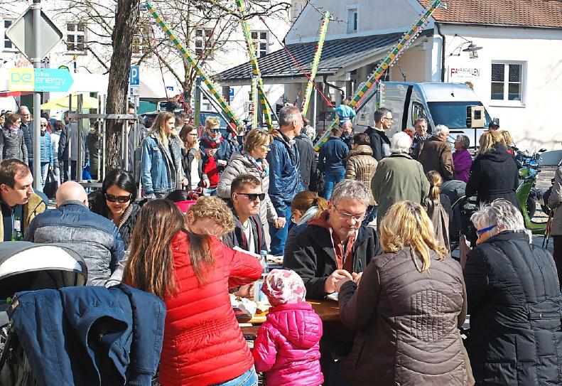 Zum Verweilen lädt der Köschinger Frühlingsmarkt am Sonntag ein