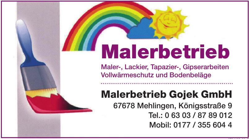 Malerbetrieb Gojek GmbH