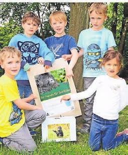 Die Kita-Kinder haben 107 alte Handys gesammelt, um dem Zoo zu helfen.