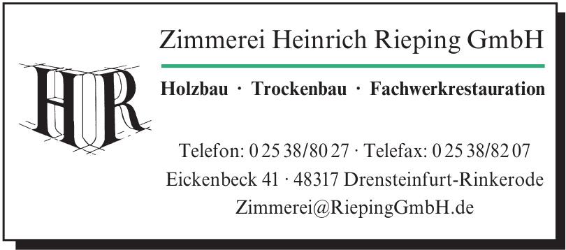 Zimmerei Heinrich Rieping GmbH