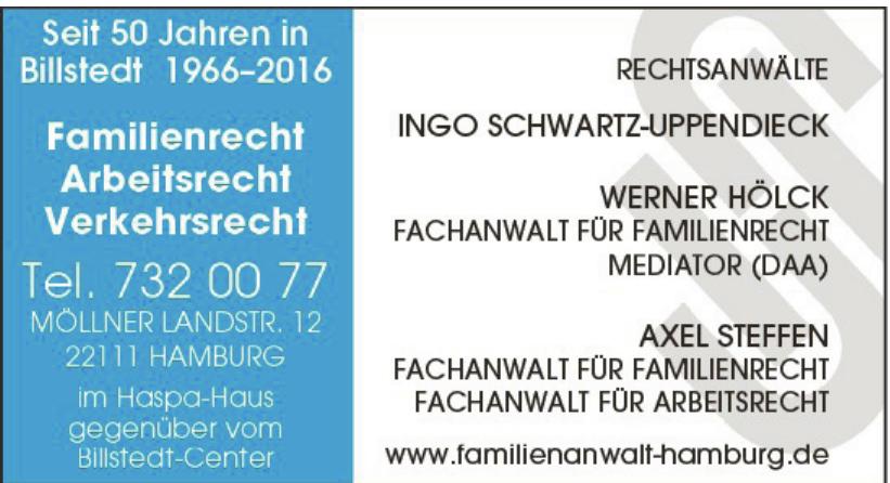 Rechtsanwälte Ingo Schwartz-Uppendieck, Werner Hölck, Axel Steffen