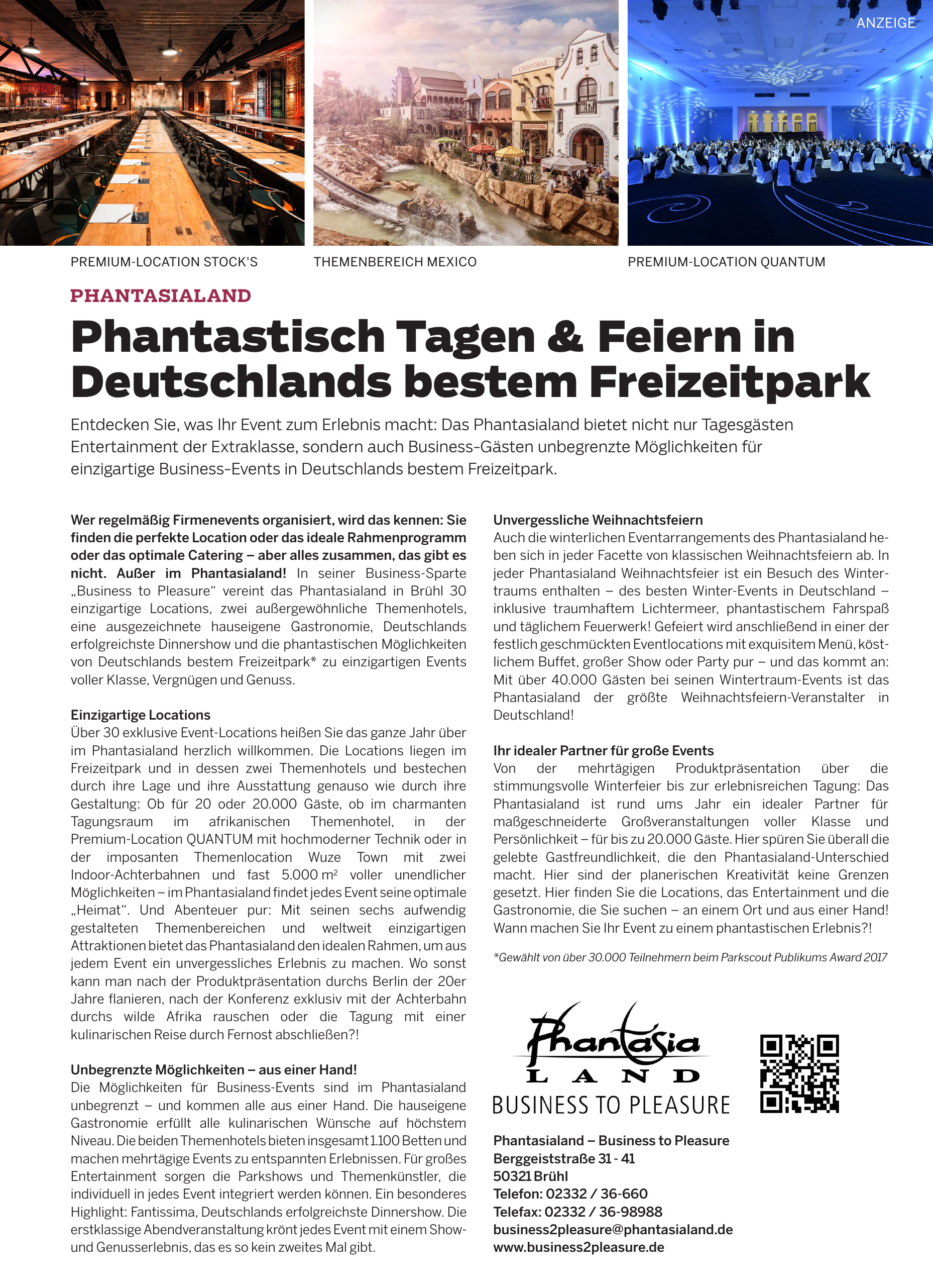 Phantasialand – Business to Pleasure