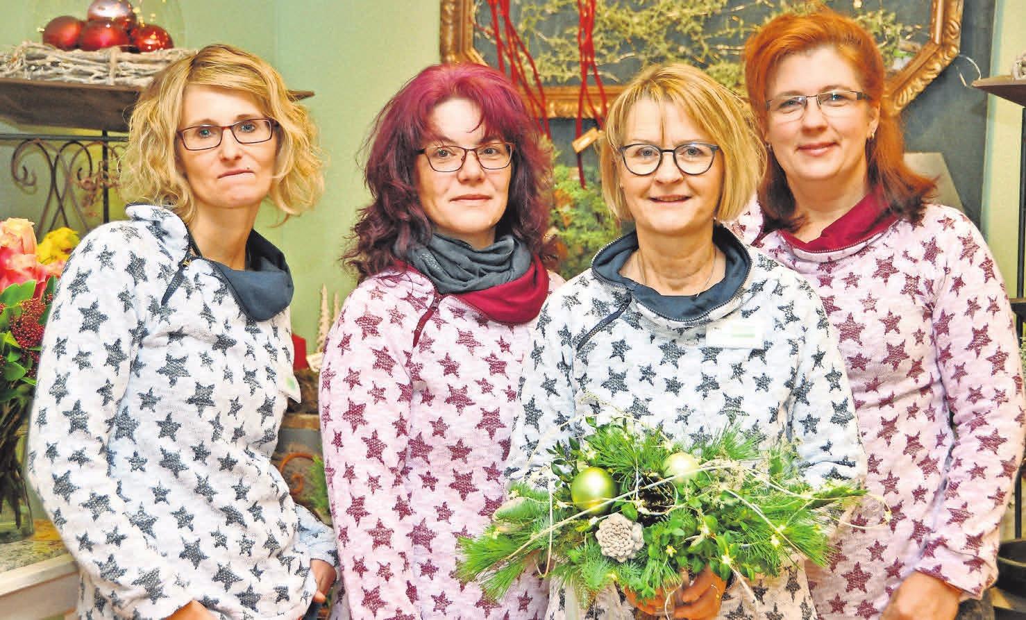 Das Team um Susanne Präger-Hoffmann (Zweite von rechts) hat in der Advents- und Weihnachtszeit viel zu bieten.