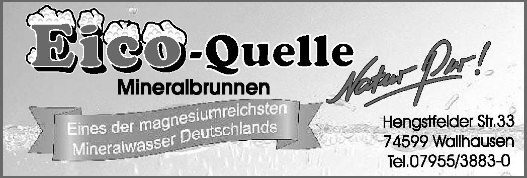 Eico-Quelleer Mineralbrunnen