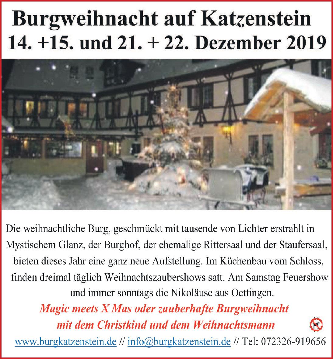 Burgweihnacht auf Katzenstein