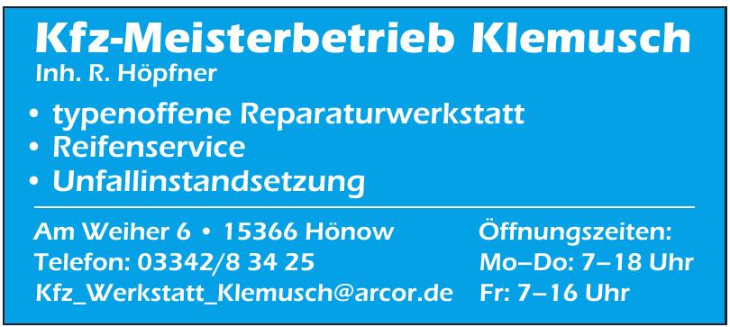 Kfz-Meisterbetrieb Klemusch