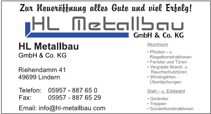 HL Metallbau GmbH & Co. KG