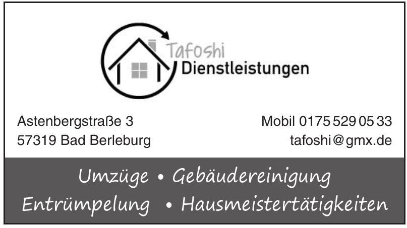 Tafoshi Dienstleistungen