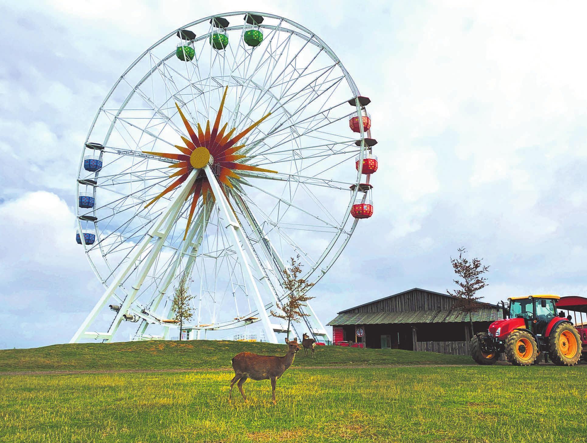 Der Sonnenlandpark Lichtenau hat wieder alle Außenattraktionen wie das Riesenrad geöffnet. Foto: Anita Müller / Sonnenlandpark