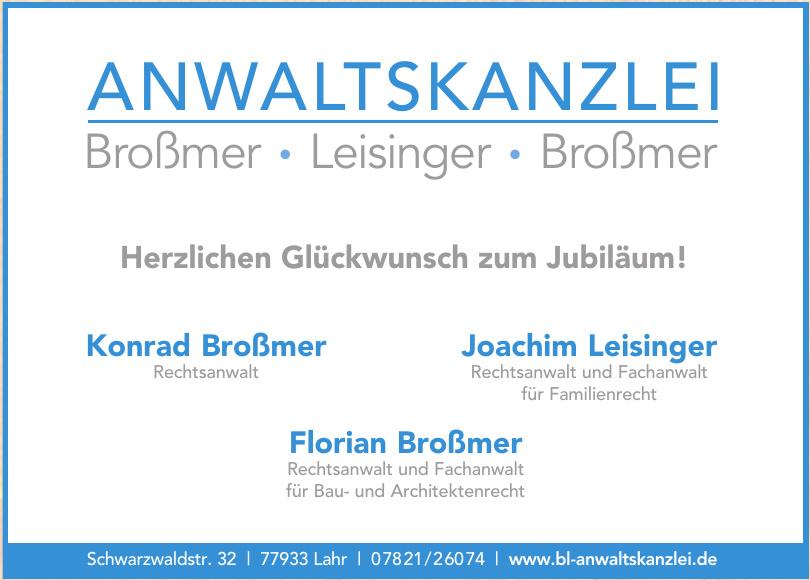 Anwaltskanzlei Broßmer • Leisinger • Broßmer