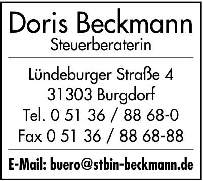 Doris Beckmann Steuerberaterin