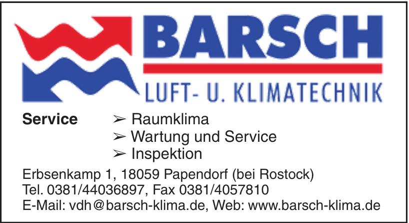 Barsch Luft- und Klimatechnik