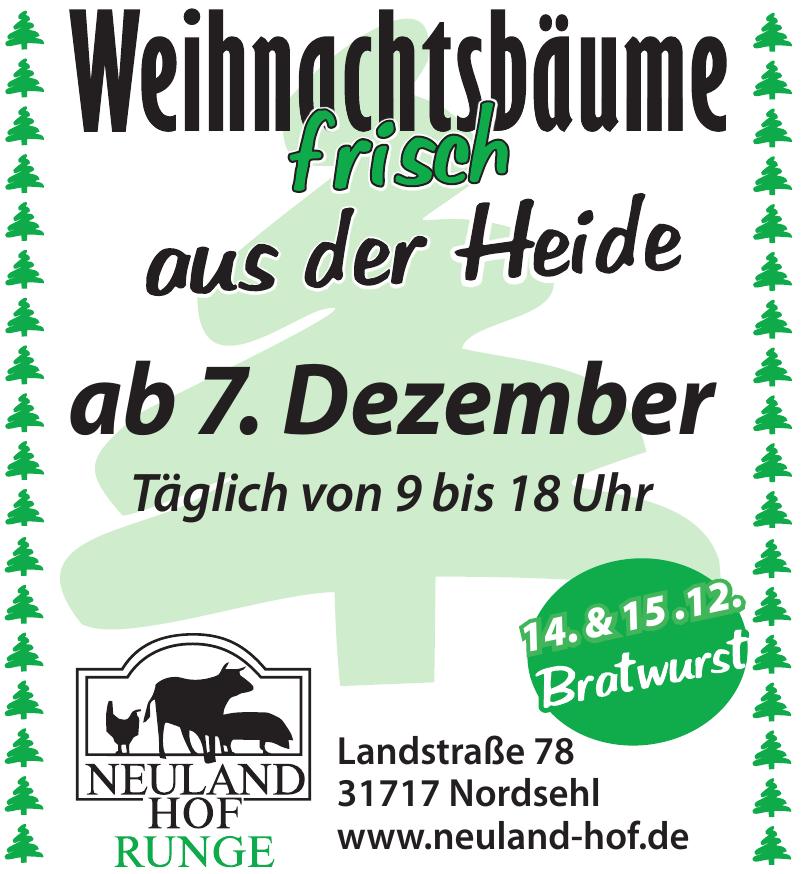 Neuland Hof Runge