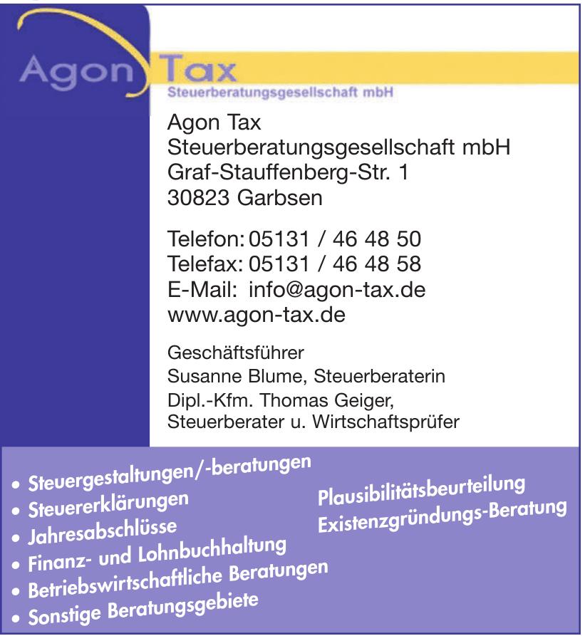 Agon Tax Steuerberatungsgesellschaft mbH