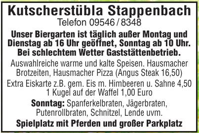 Kutscherstübla Stappenbach