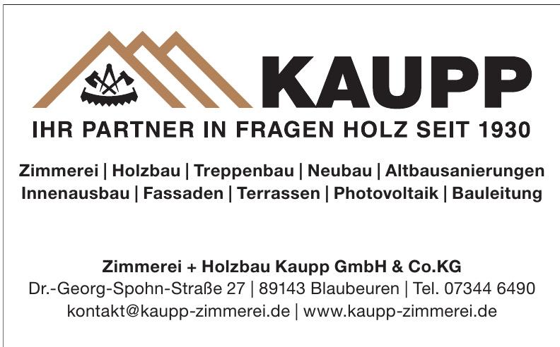 Zimmerei + Holzbau Kaupp GmbH & Co.KG