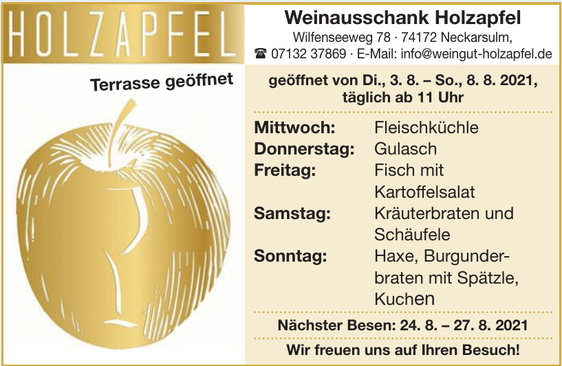 Weinausschank Holzapfel