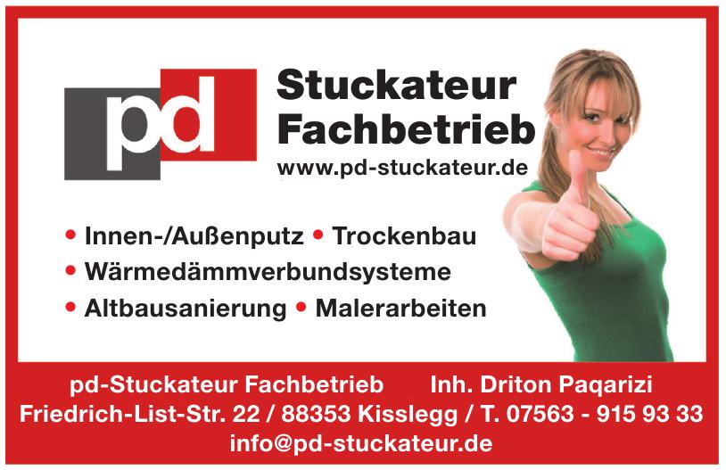 pd-Stuckateur Fachbetrieb - Inh. Driton Paqarizi